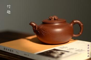 紫砂壶图片:大口实用 憨厚可人 全手竹趣 创意花货 - 宜兴紫砂壶网