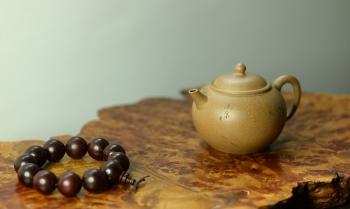 紫砂壶图片:陈进作品  圆润饱满 实用有趣 全手圆珠 - 宜兴紫砂壶网