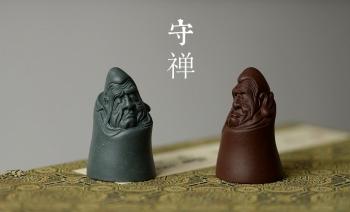 紫砂壶图片:精品茶宠 手把件 精致  守禅 - 宜兴紫砂壶网