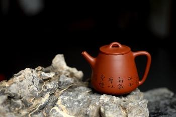 紫砂壶图片:原矿赵庄朱泥高石瓢 高挑有力 实用茶器 - 宜兴紫砂壶网