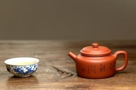 紫砂壶图片:国工师张云熙作品 温文尔雅 德中 传统经典 - 宜兴紫砂壶网