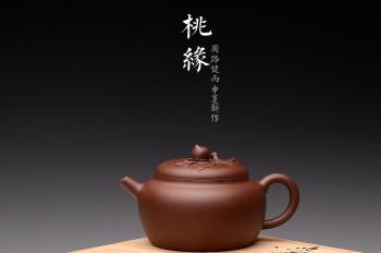 紫砂壶图片:全手桃缘 祝寿送礼佳品 寿桃初熟,寿满三千 - 宜兴紫砂壶网