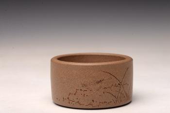 紫砂壶图片:原矿段泥 扳指杯  - 宜兴紫砂壶网