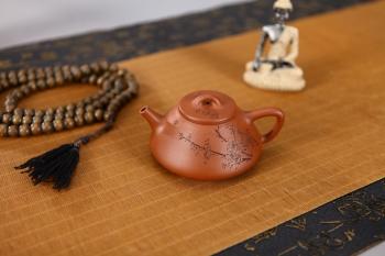 紫砂壶图片:全手优美俊秀小石瓢 - 宜兴紫砂壶网