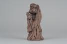 紫砂壶图片:大号树桩达摩 神态生动 精致茶宠 - 宜兴紫砂壶网