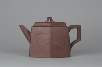 紫砂壶图片:美壶特惠 精品全手工高六方 - 宜兴紫砂壶网