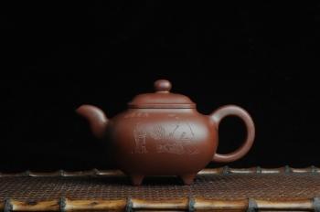 紫砂壶图片:美壶特惠 养神煮茶图传炉壶  - 宜兴紫砂壶网