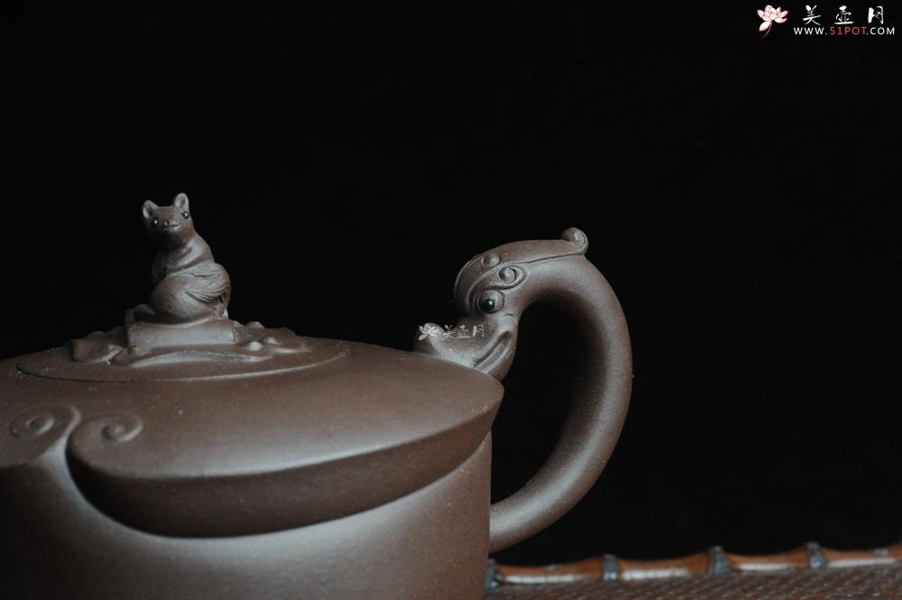 紫砂壶图片:美壶特惠 老紫泥望子成龙 浑厚大气 造型别致 - 宜兴紫砂壶网