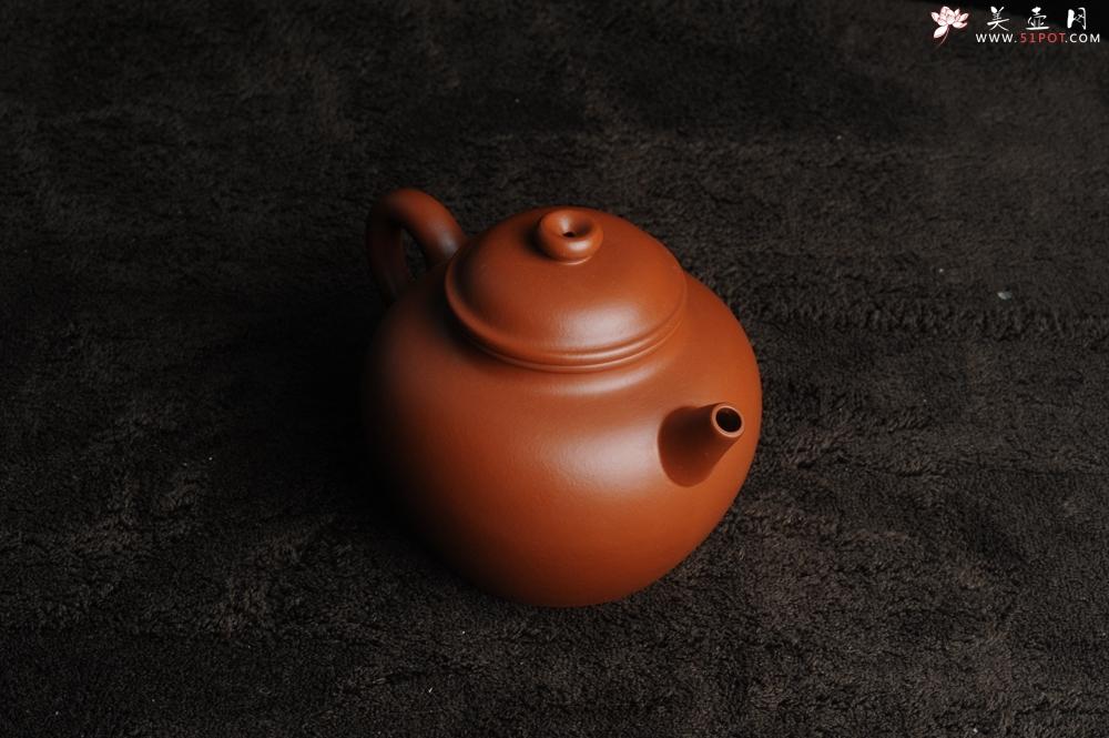 紫砂壶图片:美壶特惠 非铁红色素泥 优质朱泥大彬圈钮 - 宜兴紫砂壶网