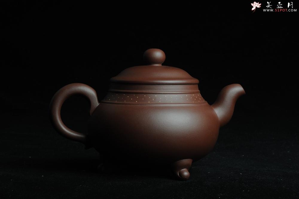 紫砂壶图片:美壶特惠三足鼎立玉鼎壶 做工精致 - 宜兴紫砂壶网