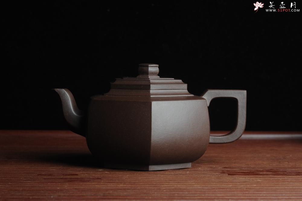 紫砂壶图片:美壶特惠 精致全手工六方雪华 泥料超好 - 宜兴紫砂壶网