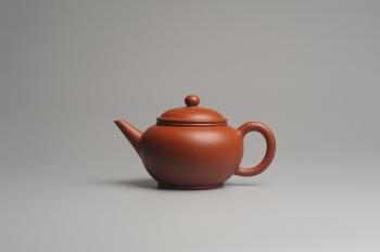 紫砂壶图片:小煤窑朱泥 全手工水平壶 端庄秀雅 - 宜兴紫砂壶网