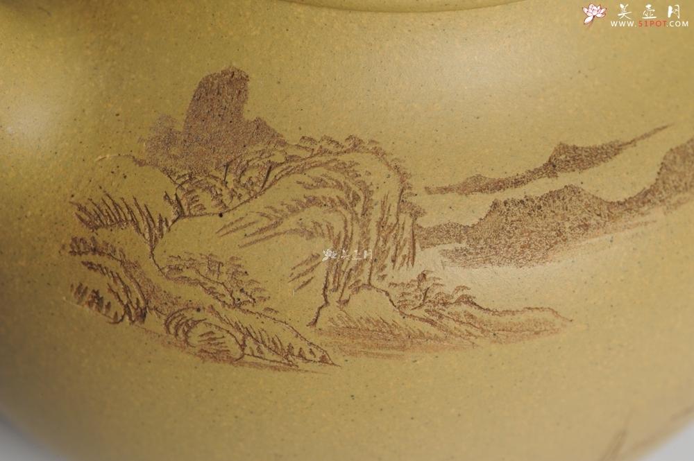 紫砂壶图片:美壶特惠 灰常好的本山段精工山水莲子壶 端庄秀雅 造化钟神秀 阴阳割昏晓 - 宜兴紫砂壶网
