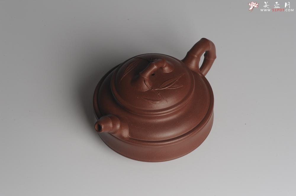 紫砂壶图片:美壶特惠 优质紫泥双线竹鼓二式 精神 - 宜兴紫砂壶网