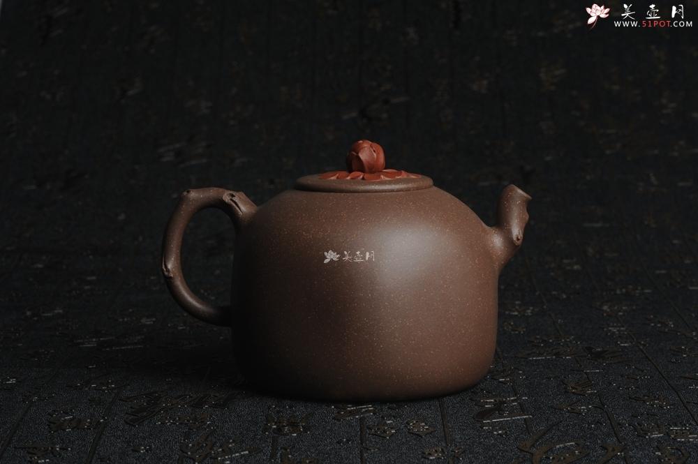 紫砂壶图片:美壶特惠 精工国色天香壶 贴叶精湛 - 宜兴紫砂壶网