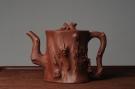 紫砂壶图片:实力派全手工松桩 气质非凡 肌理自然生动 适合收藏 - 宜兴紫砂壶网