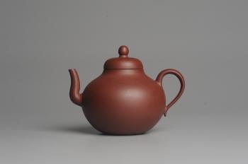 紫砂壶图片:美壶特惠 老红拼泥思亭 小清新 茶人醉爱 - 宜兴紫砂壶网
