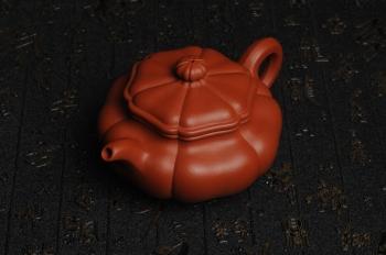 紫砂壶图片:精致朱泥葵仿古 难度太大 收缩大 实属不易 大口实用 - 宜兴紫砂壶网