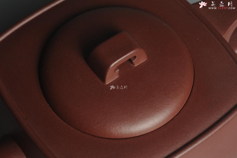 紫砂壶图片:实力派张海艳全手工精工砂四方壶 做工一流 - 宜兴紫砂壶网