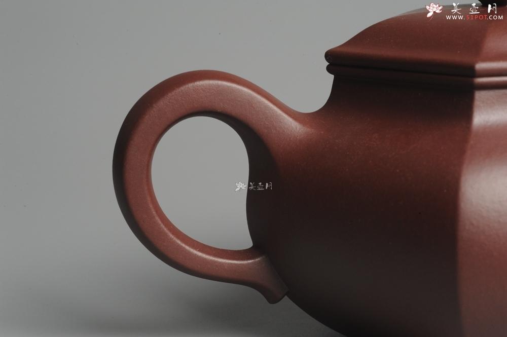 紫砂壶图片:实力派张海艳全手工精工六方仿古壶 气势磅礴 线面挺括平正  - 宜兴紫砂壶网