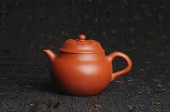 紫砂壶图片:美壶特惠 非铁红色素泥 优质朱泥般若秋水壶 - 宜兴紫砂壶网