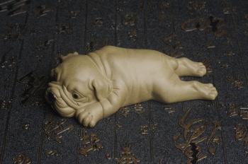 紫砂壶图片:美宠特惠 油润老青段沙皮狗茶宠 精工长13cm宽4到6.5cm高4cm - 宜兴紫砂壶网