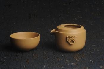 紫砂壶图片:美杯特惠 办公旅行便携式茶具快客杯 公道杯 盖碗 泥料非常好 送礼自用佳品 - 宜兴紫砂壶网