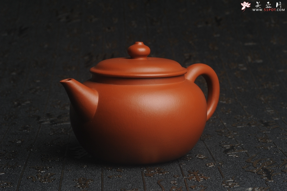 紫砂壶图片:美壶特惠 完美品 超精工朱泥大亨水平壶 茶人醉爱 - 宜兴紫砂壶网