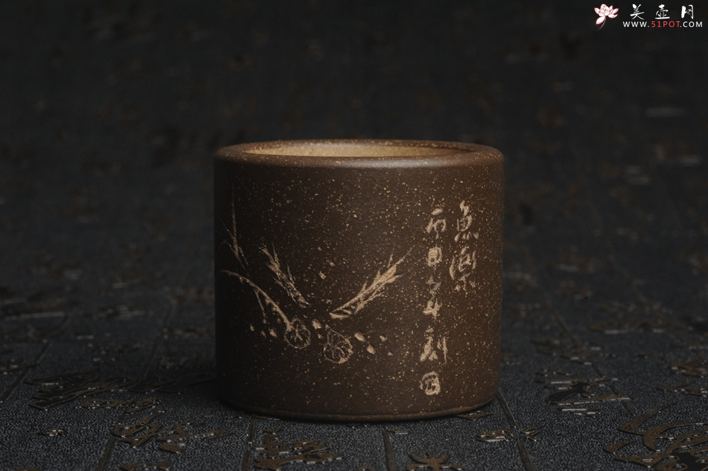 紫砂壶图片:美杯特惠 精品好泥好工好刻雅致厚实品茗杯 缸杯 鱼乐杯 - 宜兴紫砂壶网