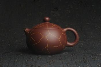 紫砂壶图片:美壶特惠 精工冰纹西施 茶人醉爱 - 宜兴紫砂壶网