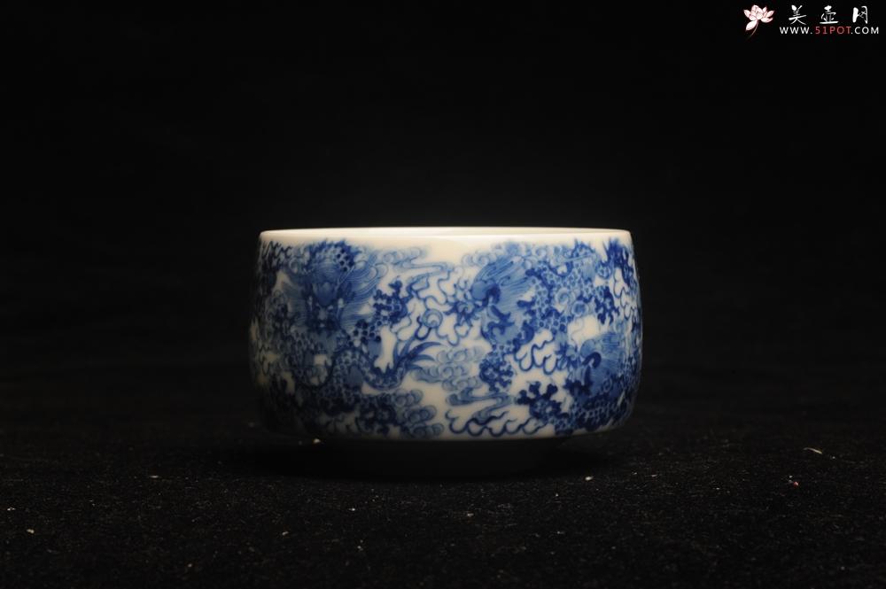 紫砂壶图片:美杯特惠 景德镇主人杯压手杯 釉下彩青花杯 九龙杯 超漂亮 - 宜兴紫砂壶网