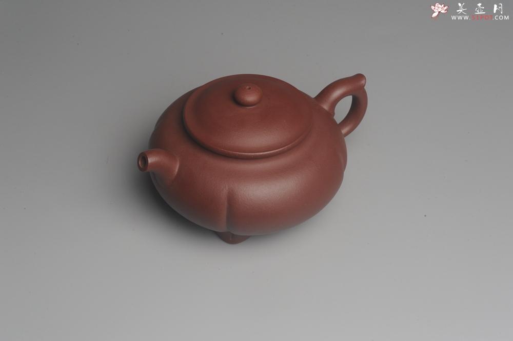 紫砂壶图片:美壶特惠 优质红拼泥精致四足菊蕾壶 大口实用 出水如柱 养后特油润 - 宜兴紫砂壶网