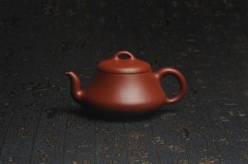 紫砂壶图片:超好小煤窑朱泥 全手工汉棠石瓢壶 端庄秀雅 - 宜兴紫砂壶网