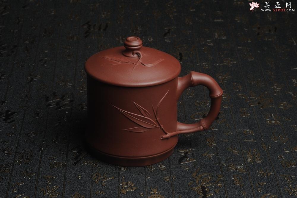 紫砂壶图片:美杯特惠 年底特惠 年货 做工精致竹节竹叶盖杯 - 宜兴紫砂壶网