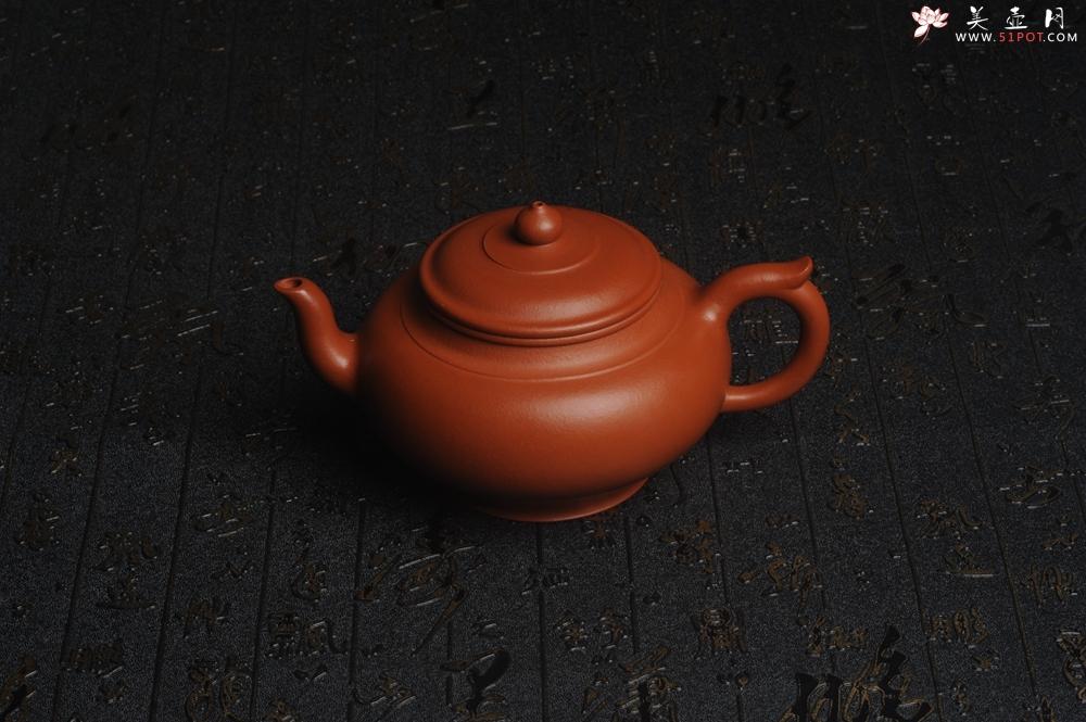 紫砂壶图片:潜力股周小培全手演绎朱泥笑樱壶 中品难度大 - 宜兴紫砂壶网