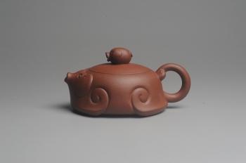 紫砂壶图片:美壶特惠 精工福猪壶 出水如柱 茶人醉爱 - 宜兴紫砂壶网