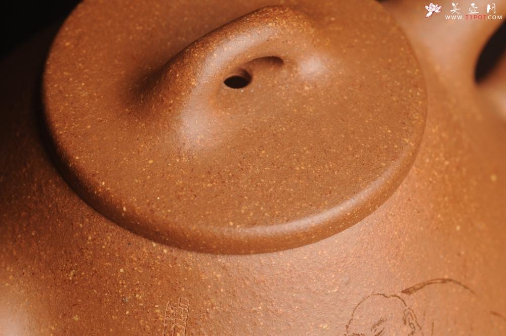 紫砂壶图片:油润五彩段泥 全手工薄胎子冶石瓢 难度大 骨肉匀挺 文气装饰罗汉图 - 宜兴紫砂壶网