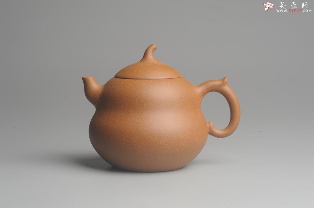 紫砂壶图片:美壶特惠 特好降坡泥精工葫芦壶(福禄) 灰常文气 - 宜兴紫砂壶网