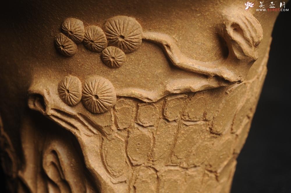 紫砂壶图片:美杯特惠 精致全手工松桩杯 - 宜兴紫砂壶网