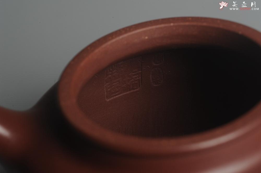 紫砂壶图片:油润黄龙山4号深井红皮龙 全手工德中壶 - 宜兴紫砂壶网