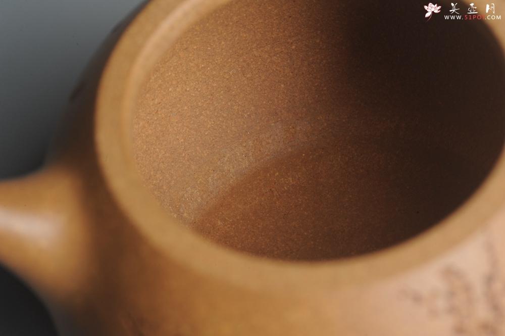 紫砂壶图片:油润老黄段泥(此泥料属于家藏老料!油润无比,识者自知!)全手工喜上眉梢小品西施 特文气 - 宜兴紫砂壶网