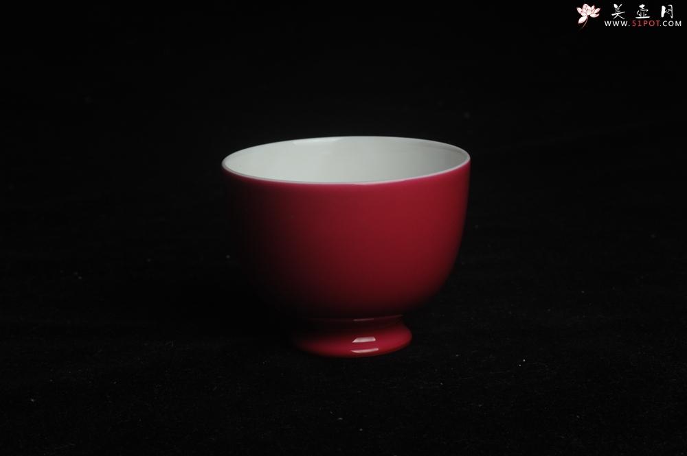 紫砂壶图片:精致胭脂红主人杯 茶人醉爱 适合女士 - 宜兴紫砂壶网