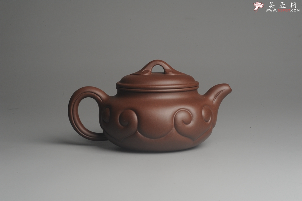 紫砂壶图片:美壶特惠 优质紫泥 精工仿古如意 茶人醉爱 - 宜兴紫砂壶网