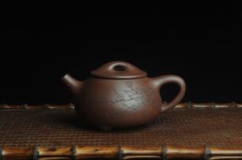 紫砂壶图片:美壶特惠 工料俱佳满瓢(霸王石瓢)通转梅花 特文气 - 宜兴紫砂壶网