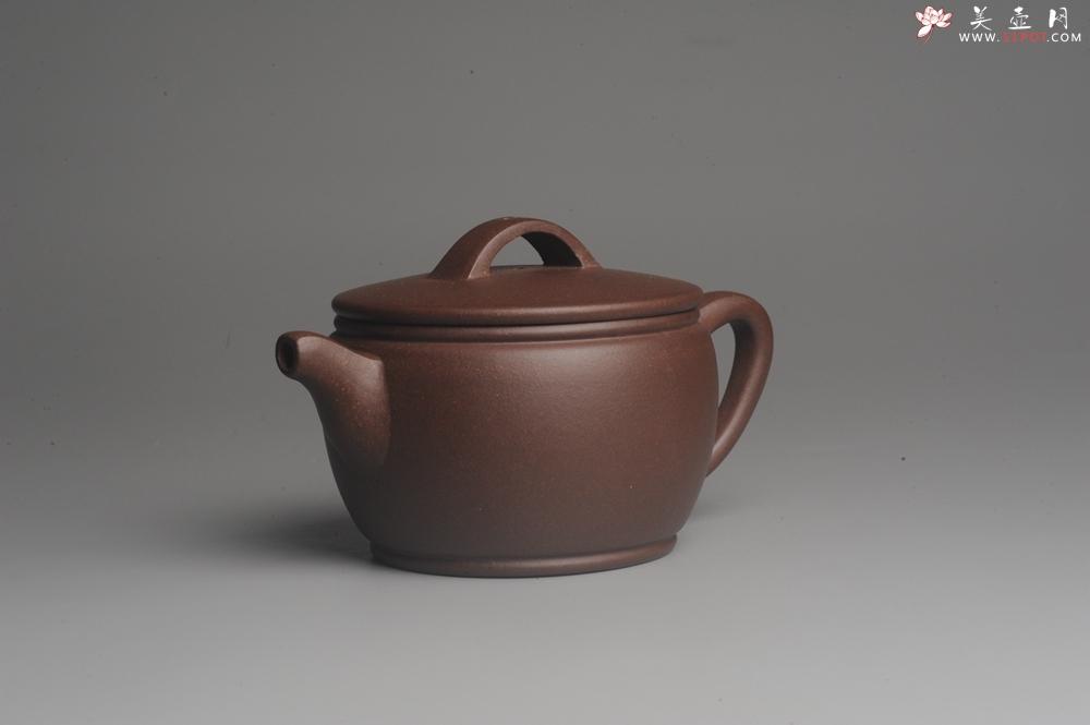 紫砂壶图片:美壶特惠 精致黑星老紫泥汉瓦 茶人醉爱 - 宜兴紫砂壶网