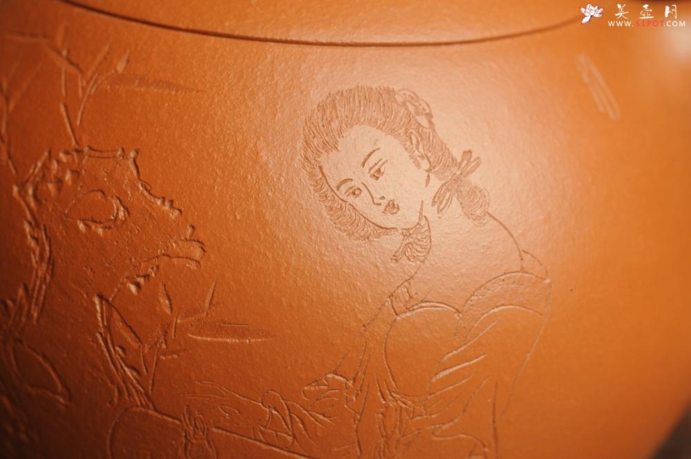 紫砂壶图片:全手工特好朱泥西施 装饰美女 灰常漂亮 送妈妈送女友超赞喔 - 宜兴紫砂壶网