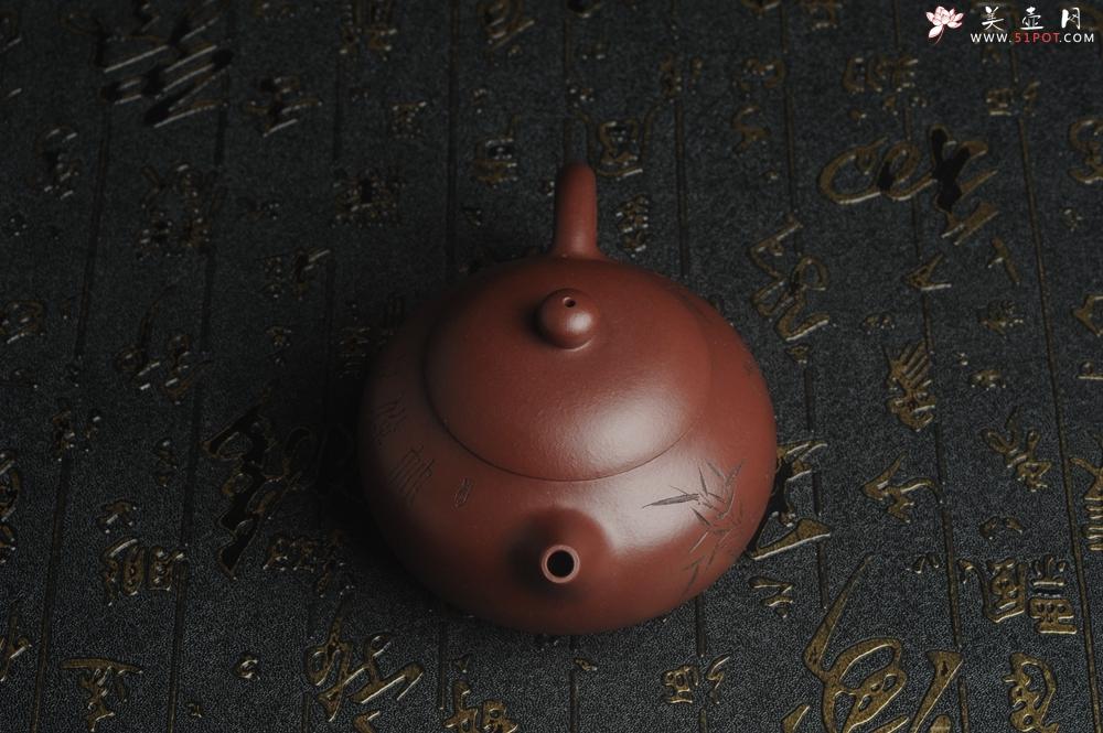 紫砂壶图片:【好壶已结缘 预定】油润底曹青 全手工高文旦 装饰人物 特文气 - 宜兴紫砂壶网