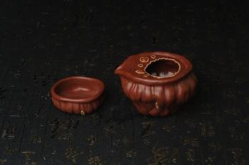 紫砂壶图片:精致特惠清水泥莲蓬公道杯快客杯一套 - 宜兴紫砂壶网