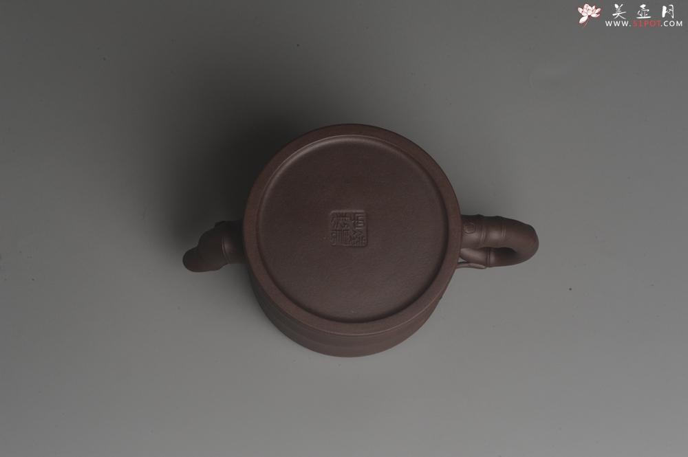 紫砂壶图片:美壶特惠 精致老紫泥可心竹段壶 茶人醉爱 - 宜兴紫砂壶网