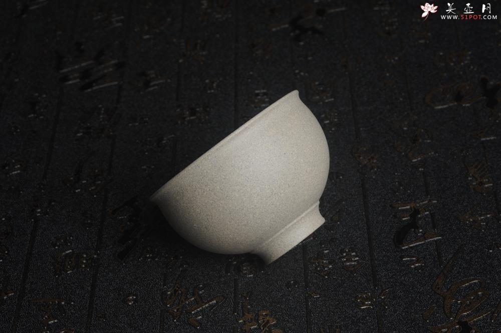 紫砂壶图片:优质白段泥精致手工品茗杯主人杯 茶人醉爱 - 宜兴紫砂壶网